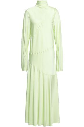 BY MALENE BIRGER Welecio stretch-silk turtleneck midi dress