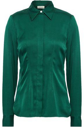 BY MALENE BIRGER Westa stretch-silk shirt