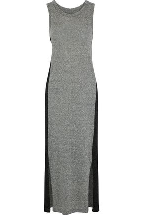 CURRENT/ELLIOTT The Perfect Muscle two-tone mélange jersey maxi dress