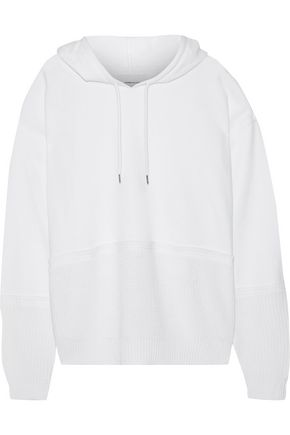 CURRENT/ELLIOTT The Mini knitted and French cotton-blend terry hooded sweatshirt
