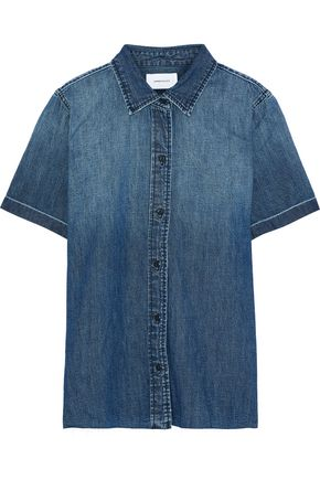 CURRENT/ELLIOTT The Lu faded denim shirt