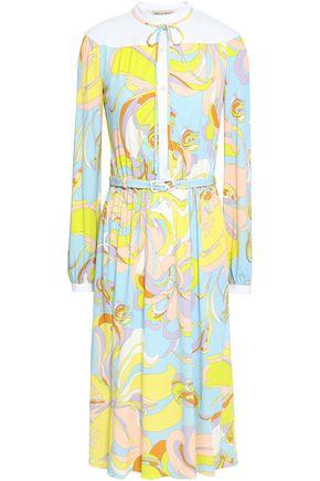 EMILIO PUCCI Lace-up printed stretch-jersey dress