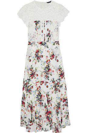 MARISSA WEBB Imani open-back corded lace-paneled floral-print silk midi dress