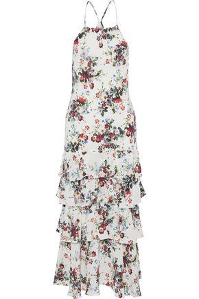 MARISSA WEBB Everleigh tiered floral-print silk crepe de chine midi dress