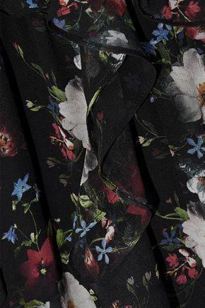 MARISSA WEBB Viola ruffled floral-print silk-georgette midi dress