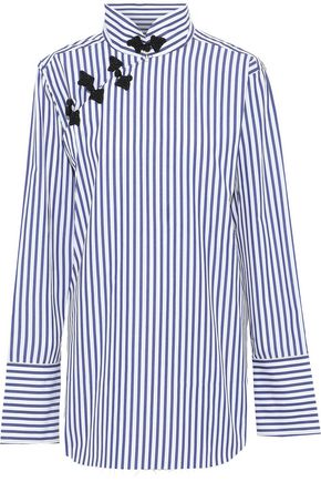 MARQUES' ALMEIDA Oversized striped cotton-poplin shirt