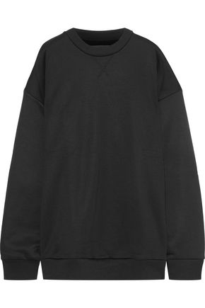 MARQUES' ALMEIDA Oversized cotton-blend fleece sweatshirt