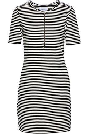 CURRENT/ELLIOTT The Leighton striped stretch-knit mini dress