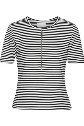CURRENT/ELLIOTT The Leighton striped stretch-knit top