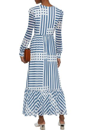 IRIS & INK Kayla printed georgette maxi dress