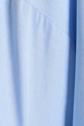 VICTORIA, VICTORIA BECKHAM Bow-detailed cotton-poplin top