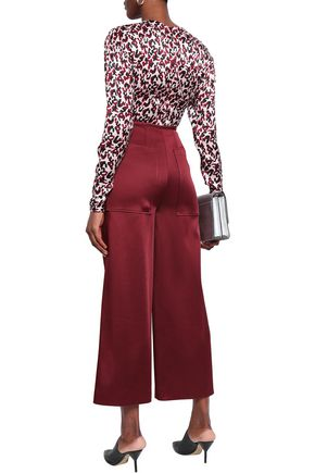 BY MALENE BIRGER Ruched printed satin top