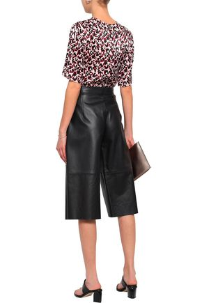 BY MALENE BIRGER Sequined printed jersey top