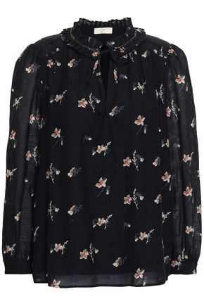 JOIE Floral-jacquard blouse