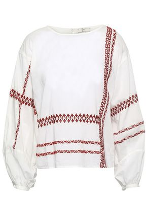 JOIE | Joie Embroidered Cotton Blouse | Goxip