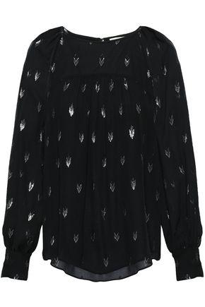 JOIE Cutout fil coupé silk-blend blouse