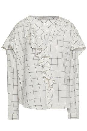 JOIE Ruffled cotton-twill blouse