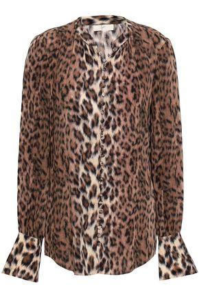 JOIE Leopard-print woven blouse