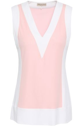 EMILIO PUCCI Two-tone stretch-jersey top