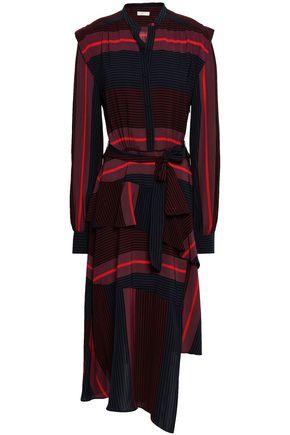 Roz Asymmetric Striped Voile Midi Dress by Joie