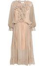 ZIMMERMANN Ruffled polka-dot silk georgette midi dress