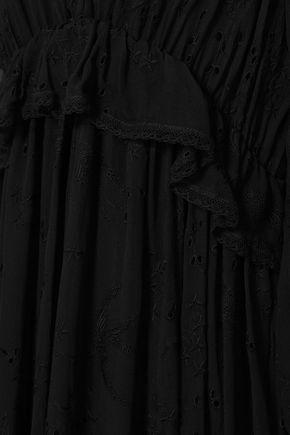 ZIMMERMANN Lovelorn ruffled broderie anglaise silk-georgette midi dress