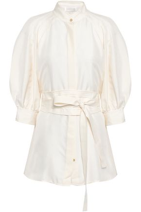 ZIMMERMANN Belted silk shirt
