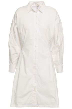 JOIE Darcila button-detailed cotton-poplin mini shirt dress
