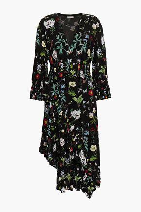 JOIE Wrap-effect floral-print dress
