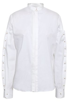ESTEBAN CORTAZAR Cotton-blend poplin shirt