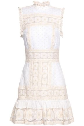 ZIMMERMANN Embroidered cotton mini dress