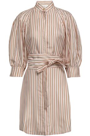 ZIMMERMANN Striped twill mini dress