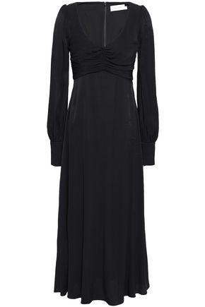 ZIMMERMANN Ruched crepe midi dress