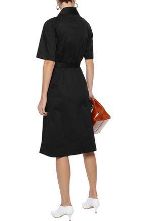 IRIS & INK Alexandra belted stretch-cotton shirt dress