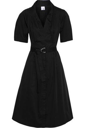 IRIS & INK Alexandra belted stretch-cotton shirt dress