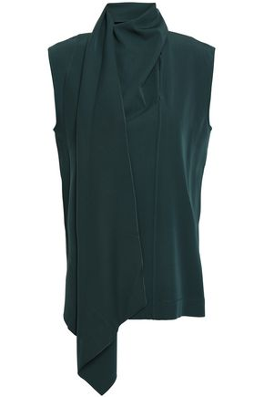 JOSEPH Draped virgin wool gabardine tunic
