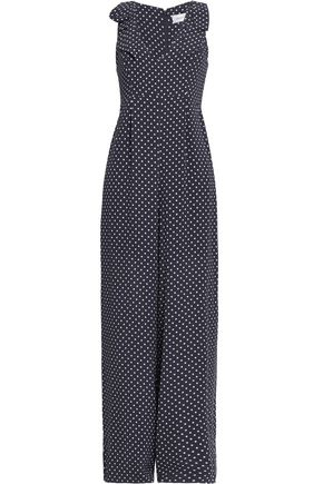 ZIMMERMANN Bow-detailed polka-dot crepe jumpsuit
