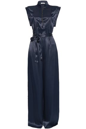ZIMMERMANN Belted satin jumpsuit
