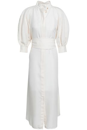 ZIMMERMANN Painted Heart silk midi shirt dress