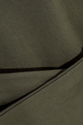 IRIS & INK ラップ風 コットンジャージー Tシャツ