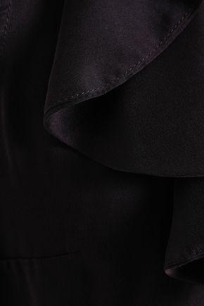 ZIMMERMANN Tie-neck ruffled silk-satin blouse