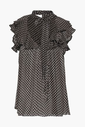 ZIMMERMANN Ruffled floral-print silk-georgette top