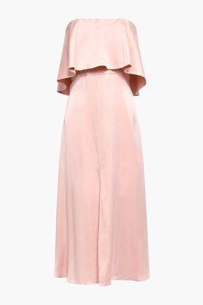 ZIMMERMANN Strapless washed-silk midi dress