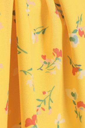 RAOUL Ring-embellished floral-print crepe top