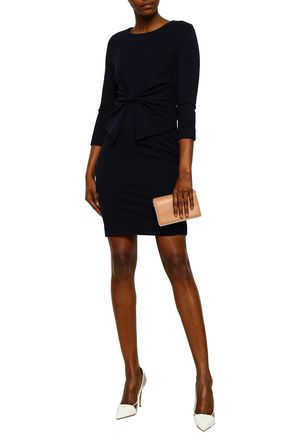 RAOUL Bow-embellished stretch-jersey mini dress