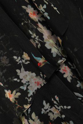 ZIMMERMANN Ruffled floral-print silk-georgette wrap dress