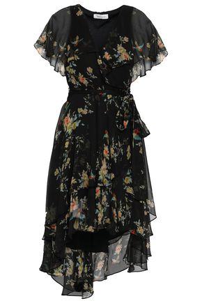 ZIMMERMANN Ruffled floral-print silk-georgette wrap dress