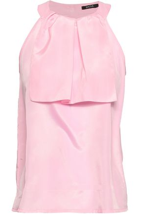 RAOUL Ruffled crepe de chine top