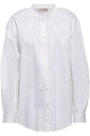 EMILIO PUCCI Gathered cotton-poplin shirt