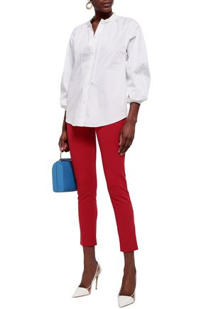 EMILIO PUCCI Gathered cotton-poplin shirt